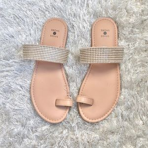Shoes - ☀️ Nude Sandals With Rhinestone Detail